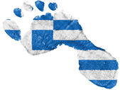 The Greek flag — Stock Photo