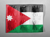 The Jordanian flag — Stock Photo