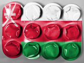 Oman flag painted on tablets or pills — Stock Photo