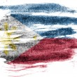 Philippine flag painted on paper with colored charcoals — Stock Photo #23411072