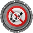 No smoking sign drawn painted on sound  speaker — Stock Photo