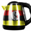 Uganda flag painted on shiny metallic kettle — Stock Photo #23419244