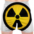 Nuclear radiation symbol painted on — Stock Photo #23419978