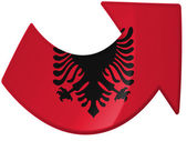 Albanian flag painted on — Stock Photo
