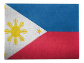 Philippine flag painted on carton box — Stock Photo