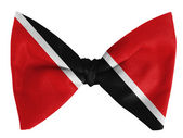 Trinidad and Tobago flag on a bow tie — Stock Photo