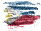 Philippine flag painted on paper with colored charcoals — Stock Photo