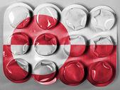 A bandeira da gronelândia — Fotografia Stock