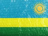 Ruanda flag painted on bubblewrap — Stock Photo