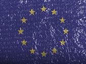 Drapeau de l'union europe peints sur bubblewrap peinte sur — Photo