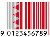 Bahrain. Bahraini flag painted on barcode surface — Stock Photo