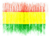 The Bolivian flag — Foto de Stock