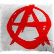 Anarchy symbol   painted on pillow - Stock Photo