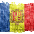 Andorra flag — Stockfoto