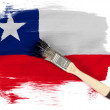 The Chile flag — Foto Stock