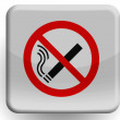 No smoking sign    painted on glossy icon — Stock Photo