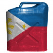 Philippine flag  painted on gasoline can or gas canister - Stock Photo
