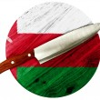 Oman flag — Stock Photo