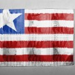 Stock Photo: Liberia. Liberiflag painted on pills