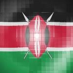 Kenya flag on wavy plastic surface — Stock Photo #23422832
