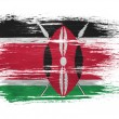 Kenya flag on white background — Stock Photo
