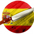 The Spanish flag — Stock Photo