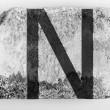 N  letter painted on brick — Stock Photo