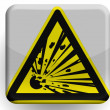 Explosive sign drawn on painted on glossy icon — Stock Photo #23423098