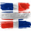 The Dominican Republic flag — Stock fotografie