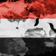 The Yemeni flag — Stock Photo