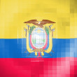 Stock Photo: Ecuador flag on wavy plastic surface