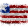 Stock Photo: Liberia. Liberiflag on white background