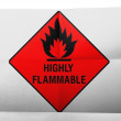 Stok fotoğraf: Highly flammable sign drawn on painted on simple paper sheet