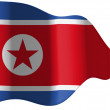A bandeira da Coreia do Norte — Foto Stock