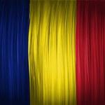 The Romania flag — Stock Photo