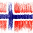 The Norwegian flag — Stock Photo #23424494
