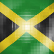 Stock Photo: Jamaicflag on wavy plastic surface