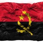Постер, плакат: Angola Angolan flag painted on crumpled paper
