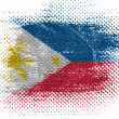 Stock Photo: Philippine flag on dotted surface