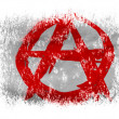 Stock Photo: Anarchy symbol painted n on white background