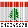 Lebanese flag — Stock Photo #23425916