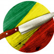 The Congo flag — Stock Photo