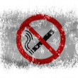 Stock Photo: No smoking sign drawn at on white background