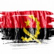 Angola. Angolan flag  painted with watercolor on wet white paper — Stockfoto