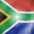 Stock Photo: South Africflag on wavy plastic surface