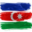 The Azerbaijani flag - Stockfoto