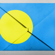 Palau flag painted on grey envelope - Stock Photo