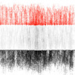 The Yemeni flag - Stock Photo
