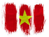 The Vietnamese flag — Stock Photo