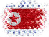 The North Korea flag — Foto de Stock
